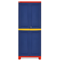 Nilkamal Freedom Cabinet Big Without Mirror - Pepsi Blue, Bright Red, Yellow