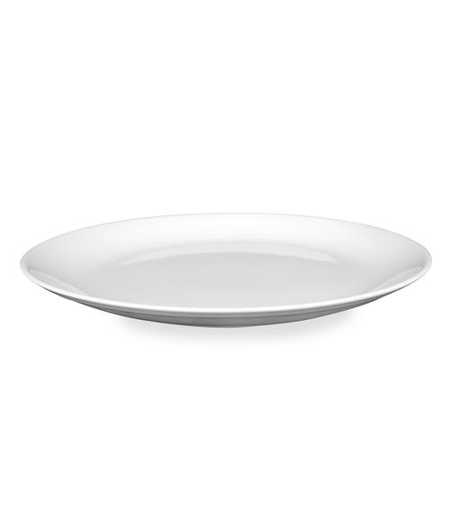 Urmi 25CM Round Dinner Plate, White