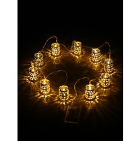Tealights LED String Lights - @home by Nilkamal, Gold