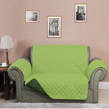 3 Seater Reversible Sofa Cover 179 cm x 279 cm - @home by Nilkamal, Light & Dark Green
