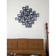 32 Wall 110 cm x 103 cm x 3 cm Photo Frame - @home By Nilkamal, Black