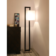 Abstract Square Floor Lamp, Black
