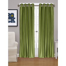 Embellished Square XL 115 cm x 274 cm Door Curtain - @home by Nilkamal, Green