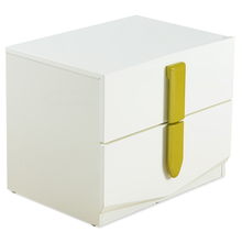 Ultra Night Stand 2 Drawer - @home by Nilkamal, Beige Wtih Olive