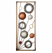 Rectangle Ringlet 25 cm x 61 cm Wall Decor - @home by Nilkamal, Orange