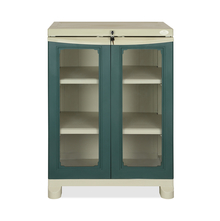 Nilkamal Freedom Small Cabinet - Olive Green and Pastel Green
