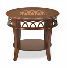 Pisces Side Table With Glass Top, Classic Wlt