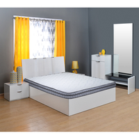 Vivah 6 Bonnell Spring Mattress - @home By Nilkamal, Grey Blue, 72x48x6