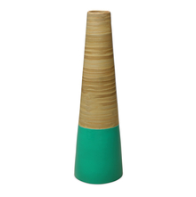 Spun Bamboo Large Vase - @home by Nilkamal, Sea Green