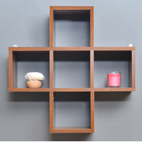 Adele American Wall Shelf - @home by Nilkamal, Walnut