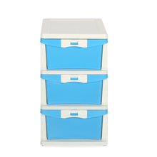 Nilkamal Chester Storage 3 Drawer Series - 23, Cream & Transparent Blue