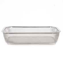 Stainless Steel Medium Fridge Basket - @home by Nilkamal, Silver