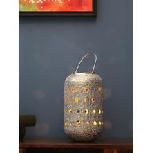 Round Holes Lantern, Silver