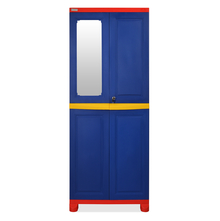 Nilkamal FB1 Freedom Cupboard with 1 Mirror - Pepsi Blue, Bright Red, Yellow