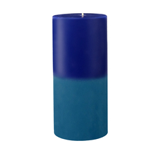 Ocean Small Two Tone Wax Candle - @home by Nilkamal, Indigo