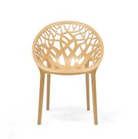 Nilkamal Crystal PP Chair,  biscuit
