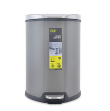 Grace 5 Litre Step Dustbin - @home by Nilkamal, Grey