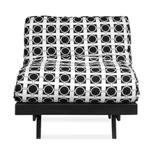 Futon 1 Seater Sofa cum Bed, Dark Black