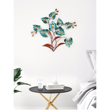 Metal Shrub 64 cm x 62 cm Wall Decor- @home by Nilkamal, Sea Green