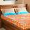 Dalliance 228 x 254 cm Double Bedsheet - @home by Nilkamal, Teal