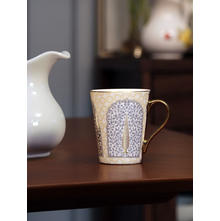 Ebony Zing 200 ml Milk Mug, Blue & Gold