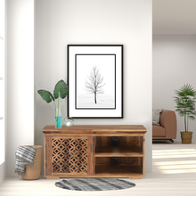 Dalia Low Height Wall Unit, Natural Walnut