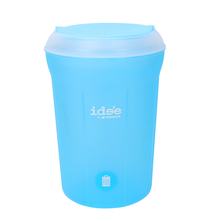 Idee 11 Litre Swing Top Round Dustbin - @home by Nilkamal, Blue