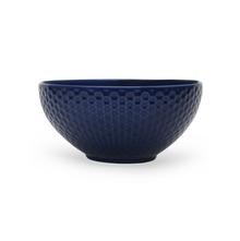 "Stone Solid Embos 6.5"" Soup Bowl, indigo"