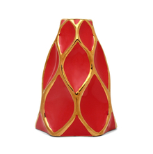 Bohemian Small 15X20CM Vase, Red