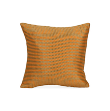 Dobby Checks 30 cm x 30 cm Set of 2 Cushion Covers, Orange