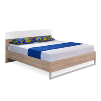 Marilyn High Gloss King Bed - @home By Nilkamal, Oak and White