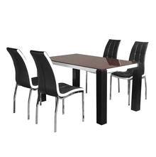 Fortis 4 Seater Dining Set - @home by Nilkamal, Black