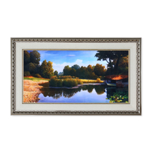 Scenic Pond Painting - @home by Nilkamal, Multicolor