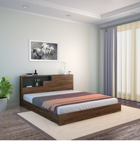 Borden King Bed With Headboard Storage, Wenge