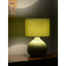Tropical Leaf 28X38CM Table Lamp, Green