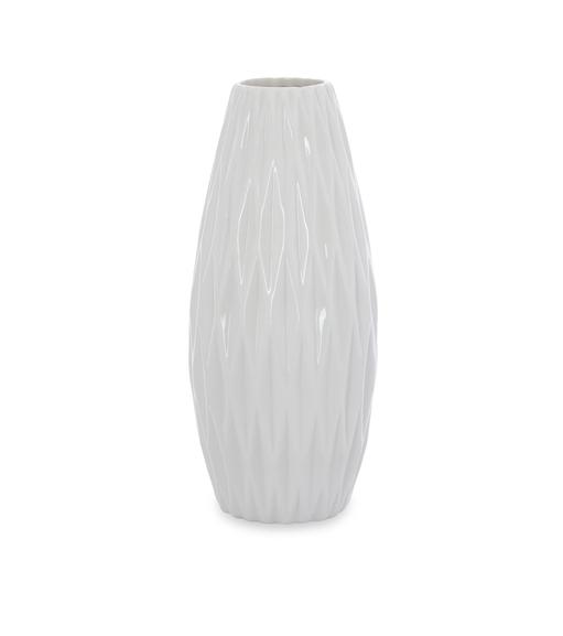 Snow 14 cm x 32 cm Vase - @home by Nilkamal, White