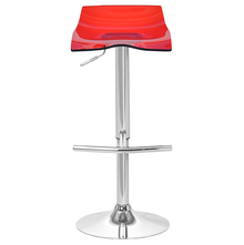 Kurt Bar Stool - @home by Nilkamal,  red