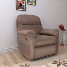 Rays 1 Seater Manual Recliner - @home by Nilkamal,  brown