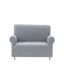 2 Seater Knit Sofa Cover, Grey