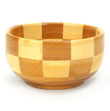 Bamboo Checks Large Snack Bowl - @home by Nilkamal, Brown