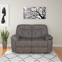 Winters 2 Seater Sofa with 2 Manual Recliners, Rose Grey