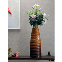 Drift 38.5 cm x 15.5 cm x 15.5 cm Wooden Vase, Brown
