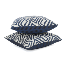 Geometric 30 x 30 cm Cushion Cover Set of 2 - @home by Nilkamal, Indigo