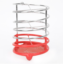 Round Metal Cutlery Holder - @home by Nilkamal, Orange