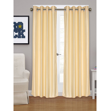 Embellished Square XL 115 cm x 274 cm Door Curtain - @home by Nilkamal, Cream