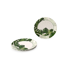 Honeycomb Tropical Quarter Plate Set of 4, Green