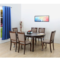 New Port 6 Seater Dining Kit, Capucino