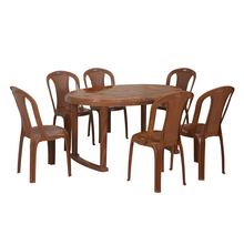 Nilkamal Grand 6 Seater Dining Set, Fine Mango Wood