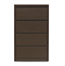 Vagus Chest of 4 Drawer - @home by Nilkamal,  dark walnut