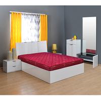 Horizon 5 Bonnell Spring Mattress - @home By Nilkamal,  maroon, 72x48x5